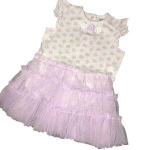 ⭐️ Little Me 18mo lavender floral tutu dress